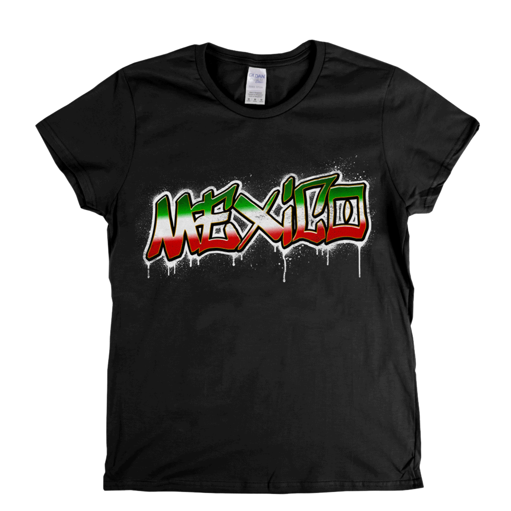 Mexico Tag Womens T-Shirt
