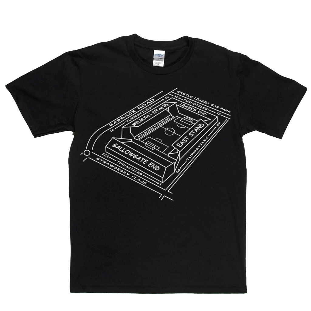 NUFC Ground Map Regular T-Shirt