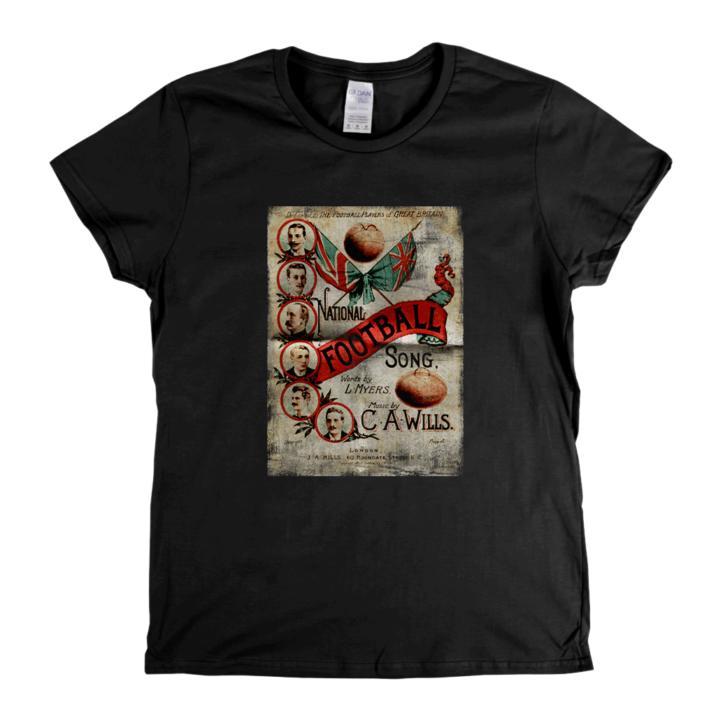 National Football Song Poster Womens T-Shirt