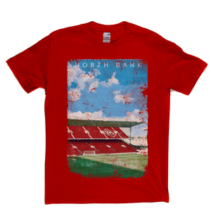 North Bank Football Ground Poster Regular T-Shirt