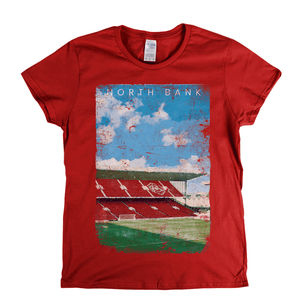 North Bank Football Ground Poster Womens T-Shirt