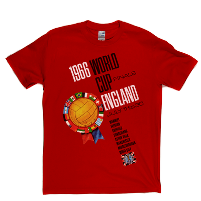 1966 World Cup England Flags Poster T-Shirt