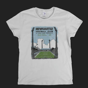 Retro Newcastle Football Club Womens T-Shirt