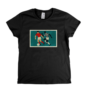 Retro Soccer Game Womens T-Shirt