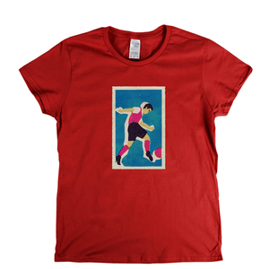 Retro Soccer Womens T-Shirt
