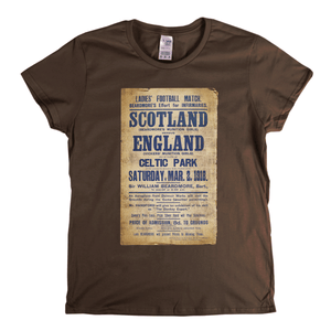 Scotland England Antique Poster Womens T-Shirt