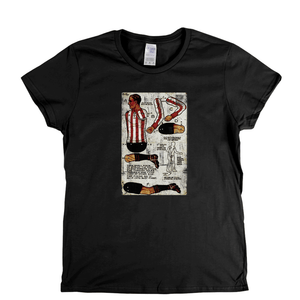 Soccer Paper Doll Postcard Womens T-Shirt