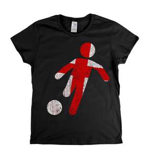 Soccer Player England Womens T-Shirt