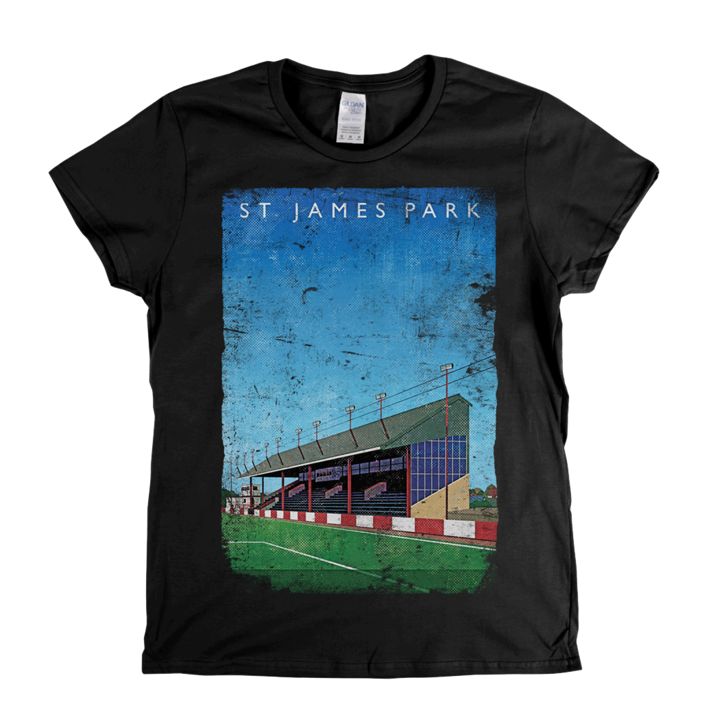 St James' Park Exeter Ground Poster Womens T-Shirt