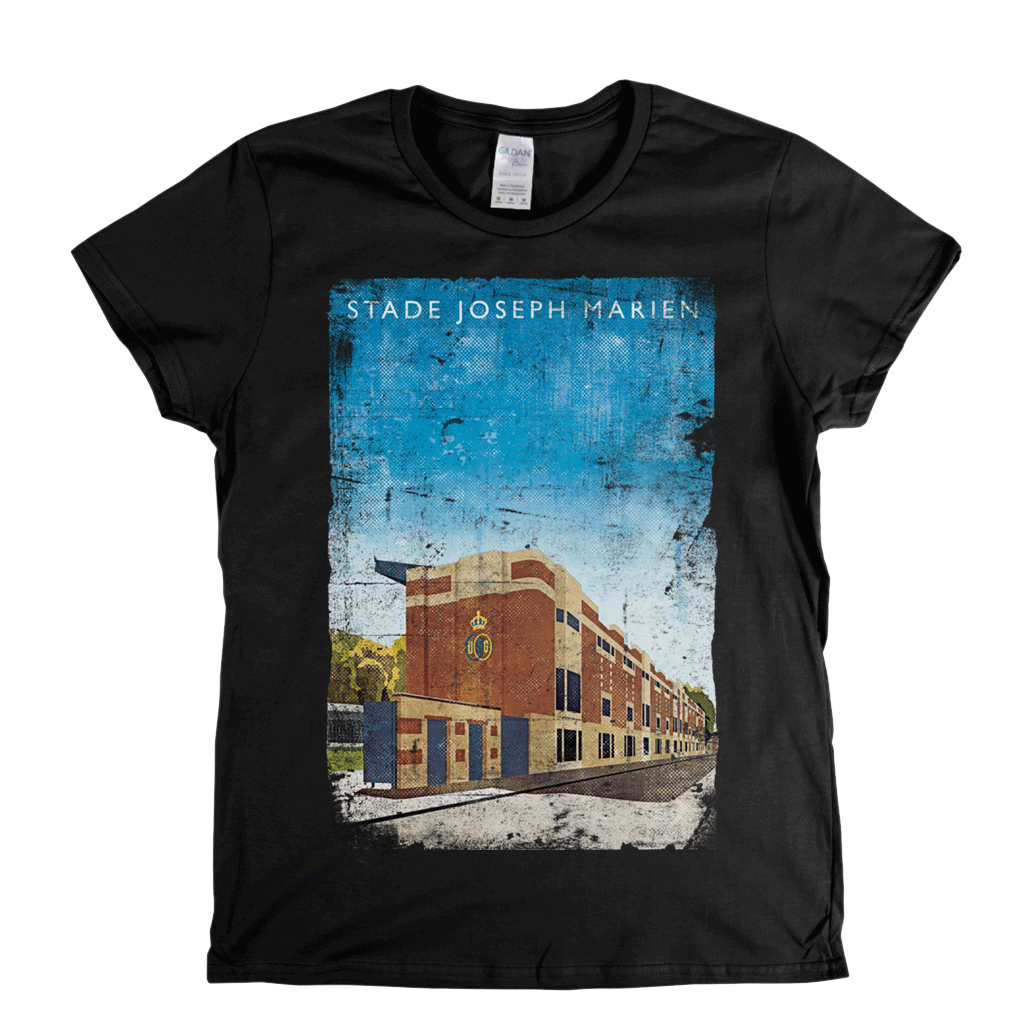 Stade Joseph Marien Football Ground Poster Womens T-Shirt