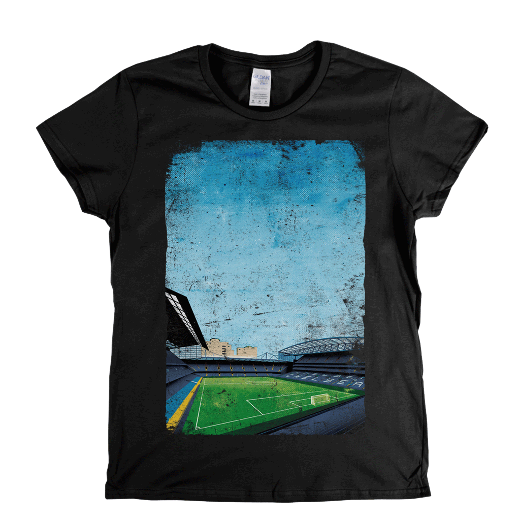 Stamford Bridge on the Front | Chelsea Pitch Owners on the Back Womens T-Shirt