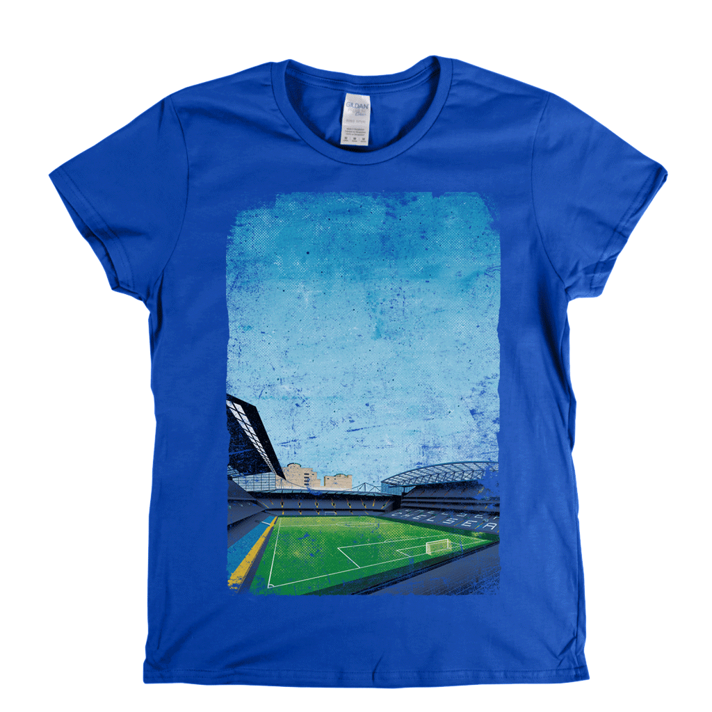 Stamford Bridge Ground Poster Womens T-Shirt
