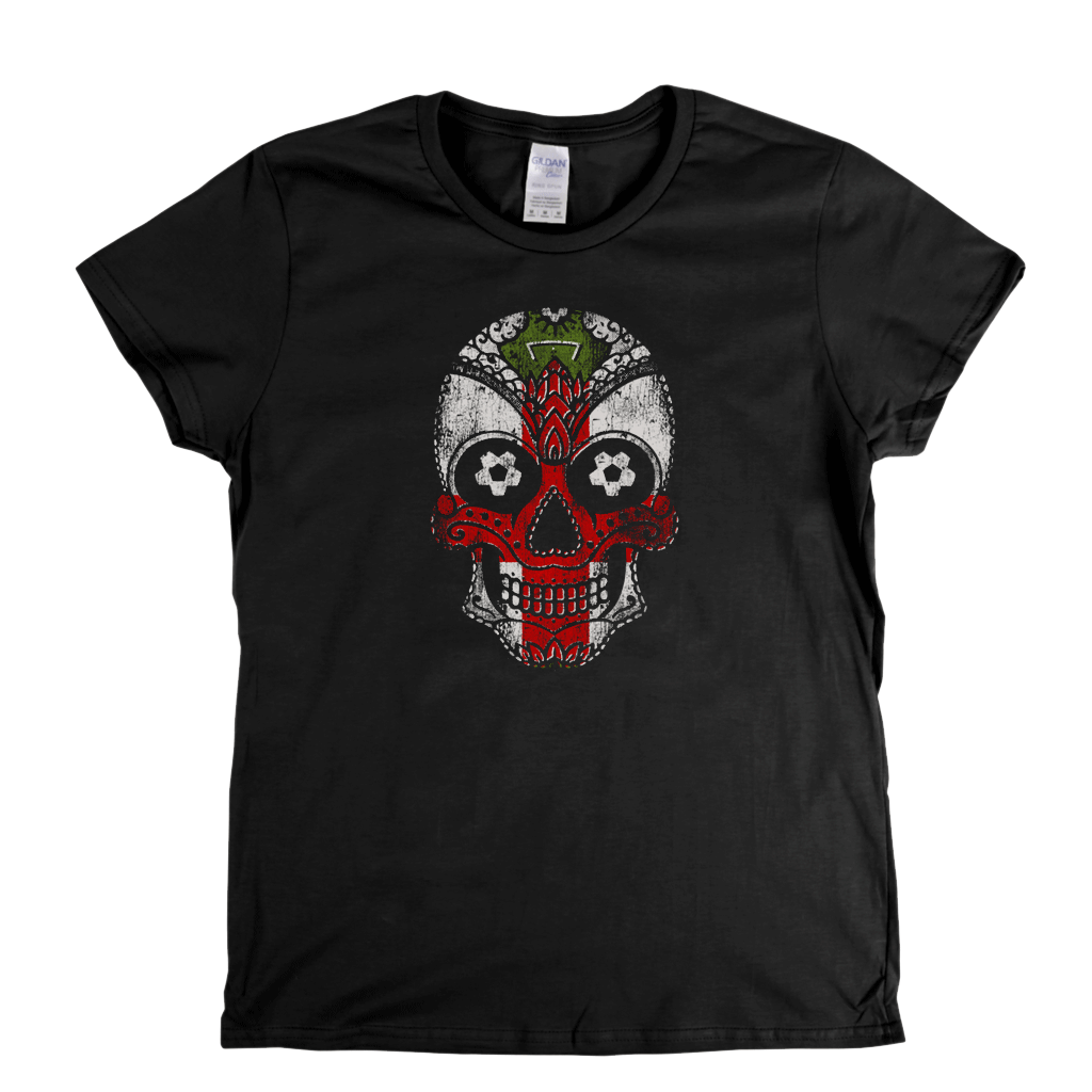 Sugar Skull England Womens T-Shirt