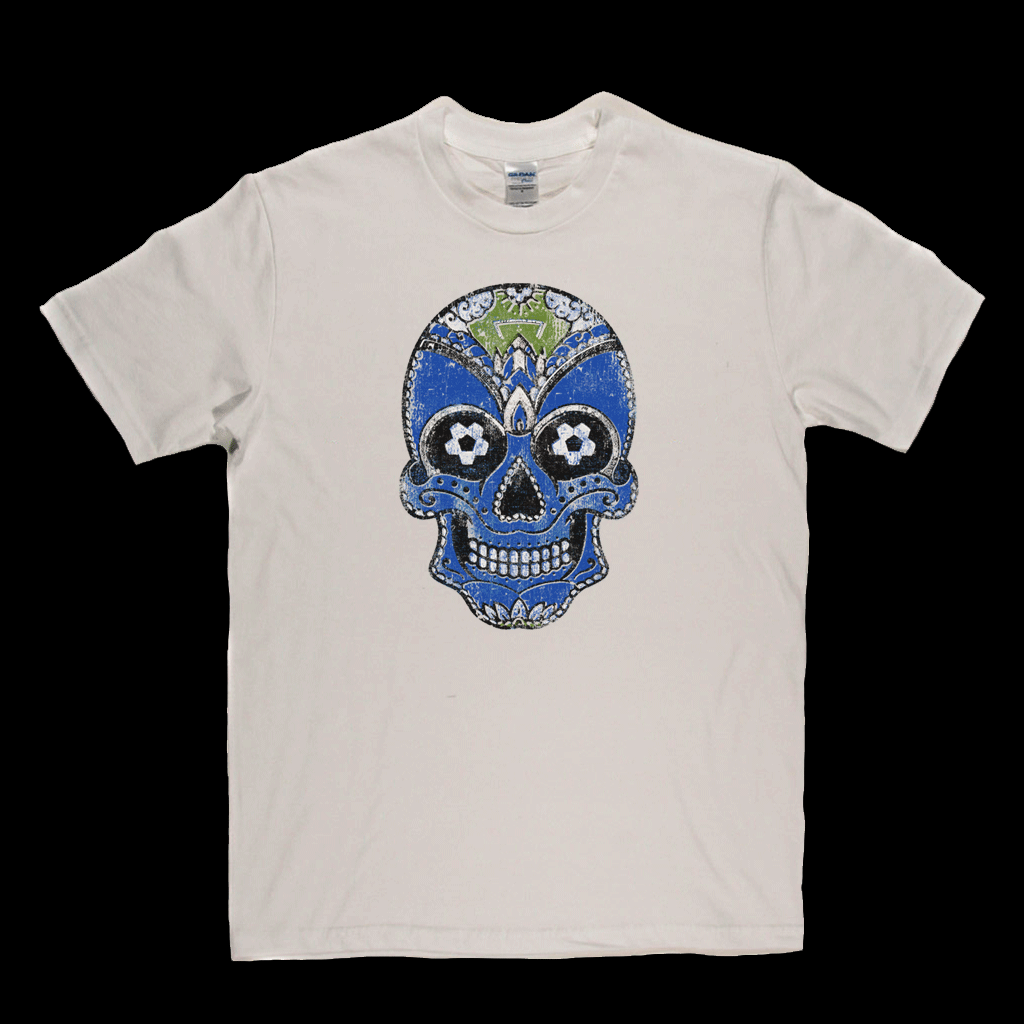 Team Sugar Skull Blue White Regular T-Shirt