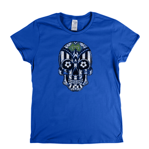 Team Sugar Skull Black and White Womens T-Shirt