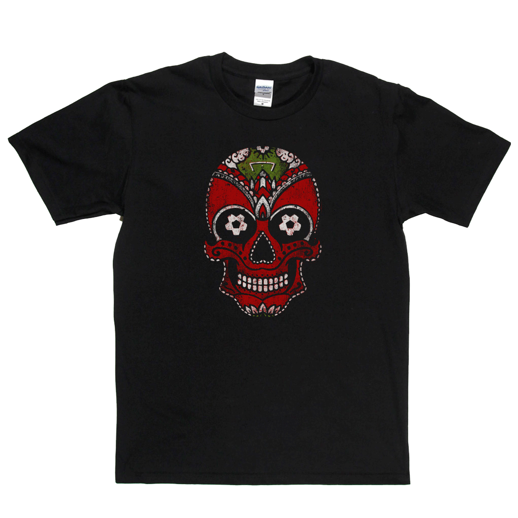 Team Sugar Skull Red White Regular T-Shirt
