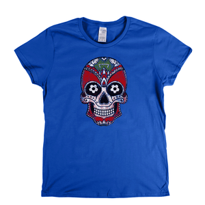 Team Sugar Skull Red White Alternative Womens T-Shirt