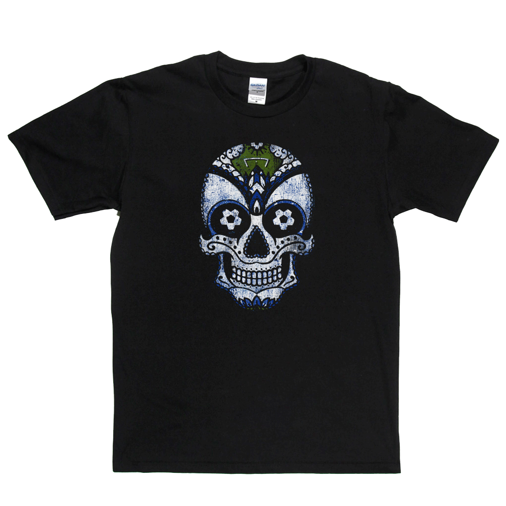 Team Sugar Skull White Blue Regular T-Shirt