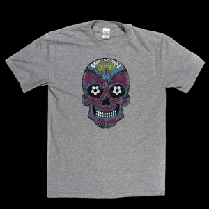 Team Sugar Skull Burgundy Sky Blue Regular T-Shirt