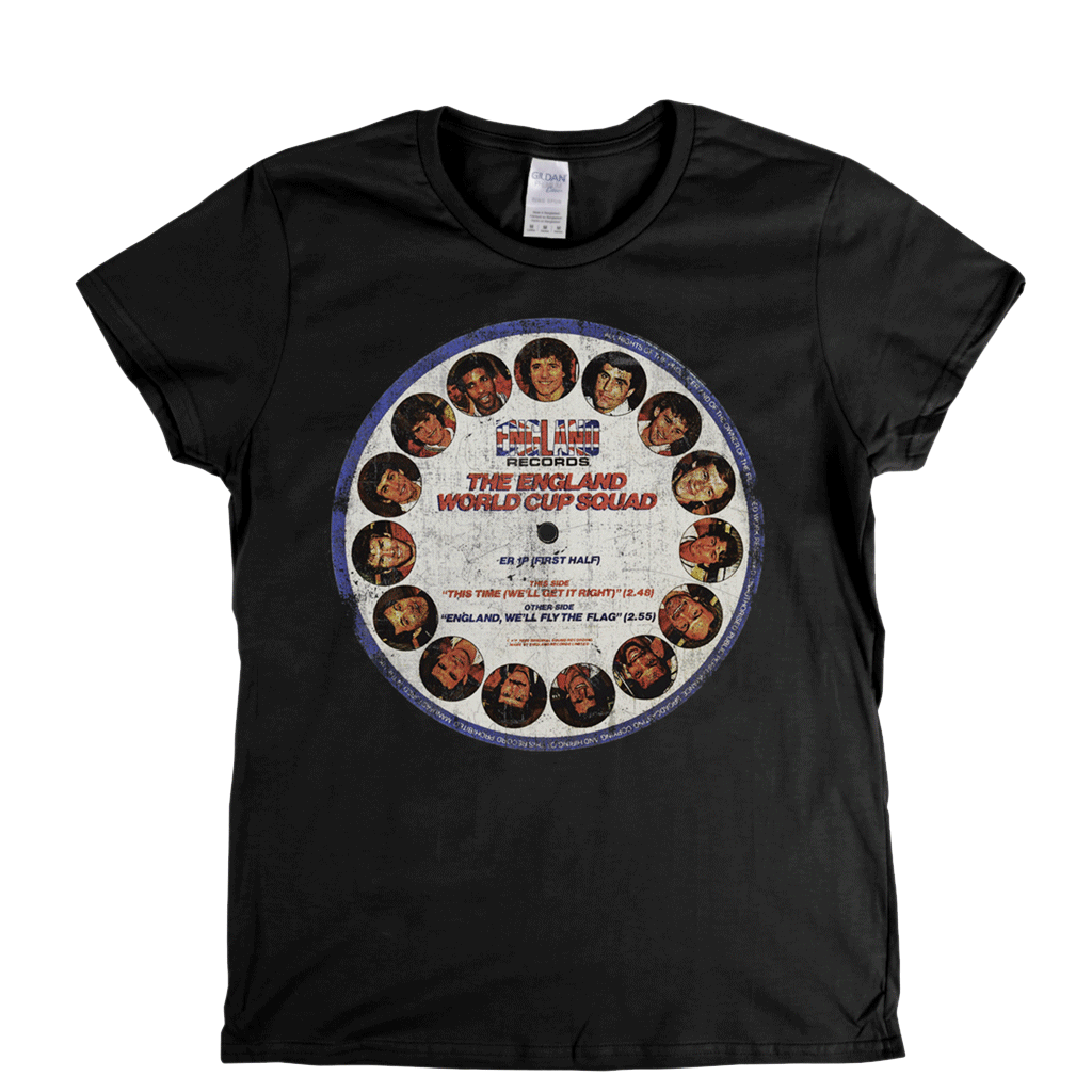 The England Picture Disc Womens T-Shirt
