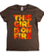 This Girl Is On Fire Womens T-Shirt