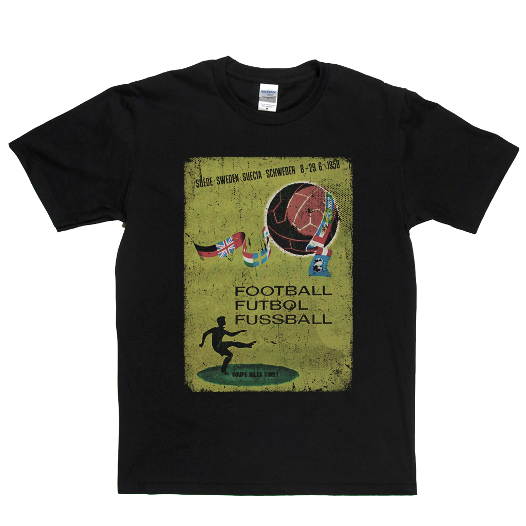Sweden World Cup 1958 Poster T-Shirt
