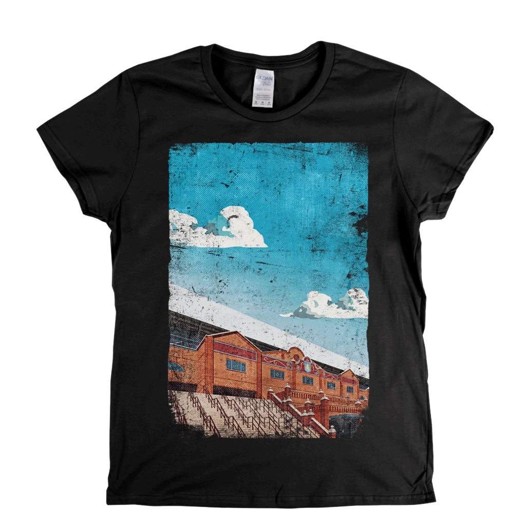 Villa Park Football Ground Poster Womens T-Shirt