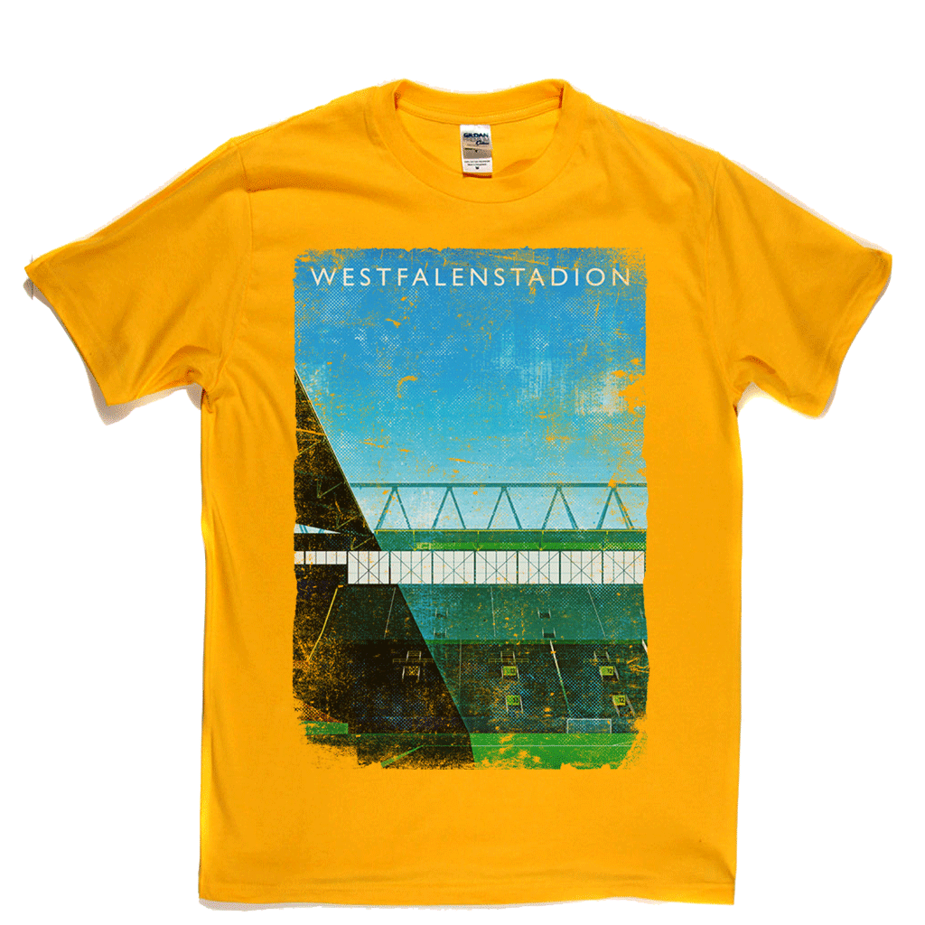 Westfalenstadion Football Ground Poster Regular T-Shirt