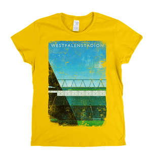 Westfalenstadion Football Ground Poster Womens T-Shirt