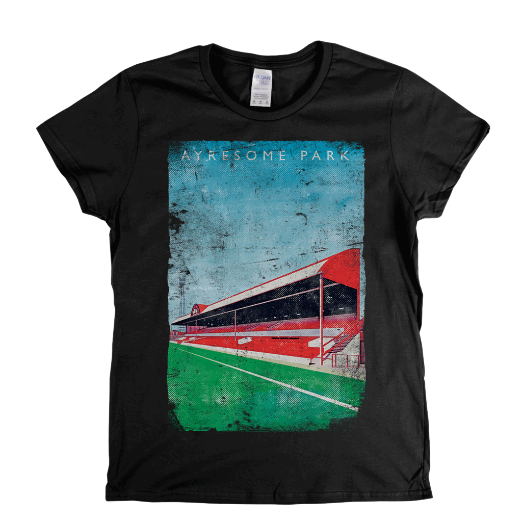 Ayresome Park Poster Womens T-Shirt