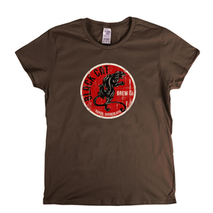 Black Cat Beer Label Womens T-Shirt
