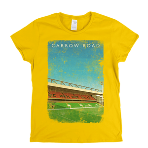Carrow Road Poster Womens T-Shirt