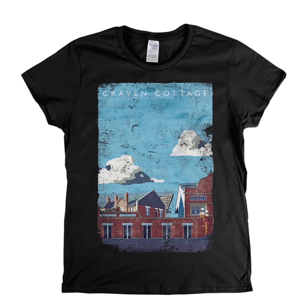 Craven Cottage Poster Womens T-Shirt