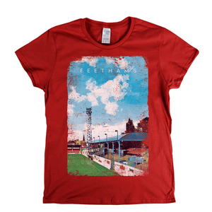 Feethams Football Ground Poster Womens T-Shirt