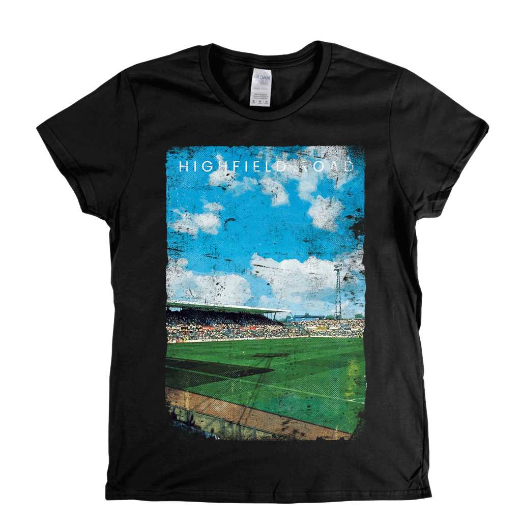 Highfield Road Football Ground Poster Womens T-Shirt
