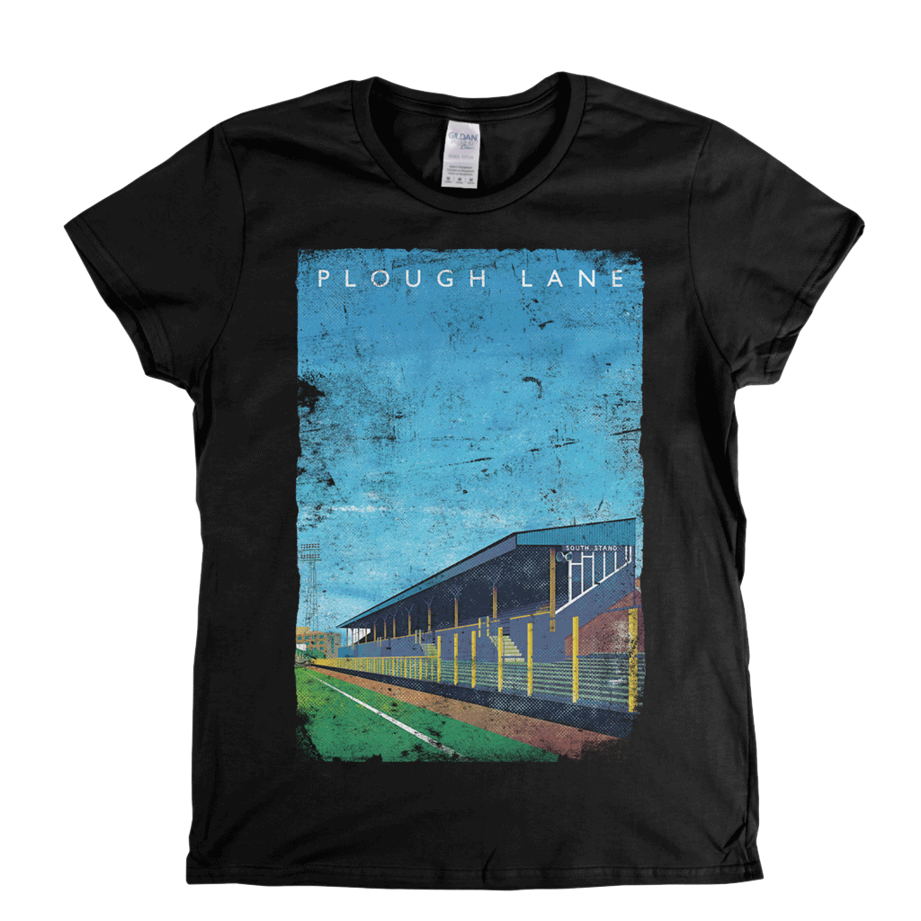 Plough Lane Poster Womens T-Shirt
