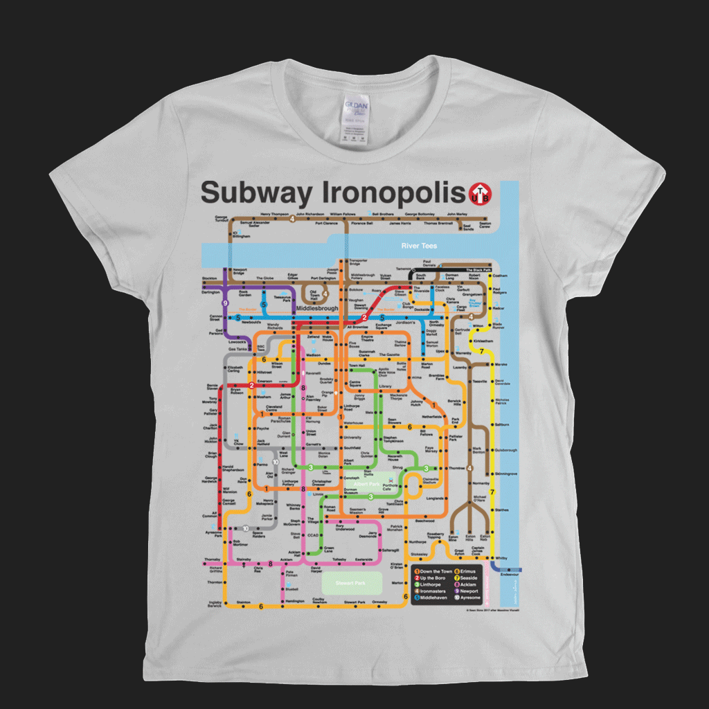 Subway Ironopolis Womens T-Shirt