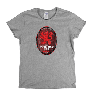 The Ayresome Lion Beer Label Womens T-Shirt
