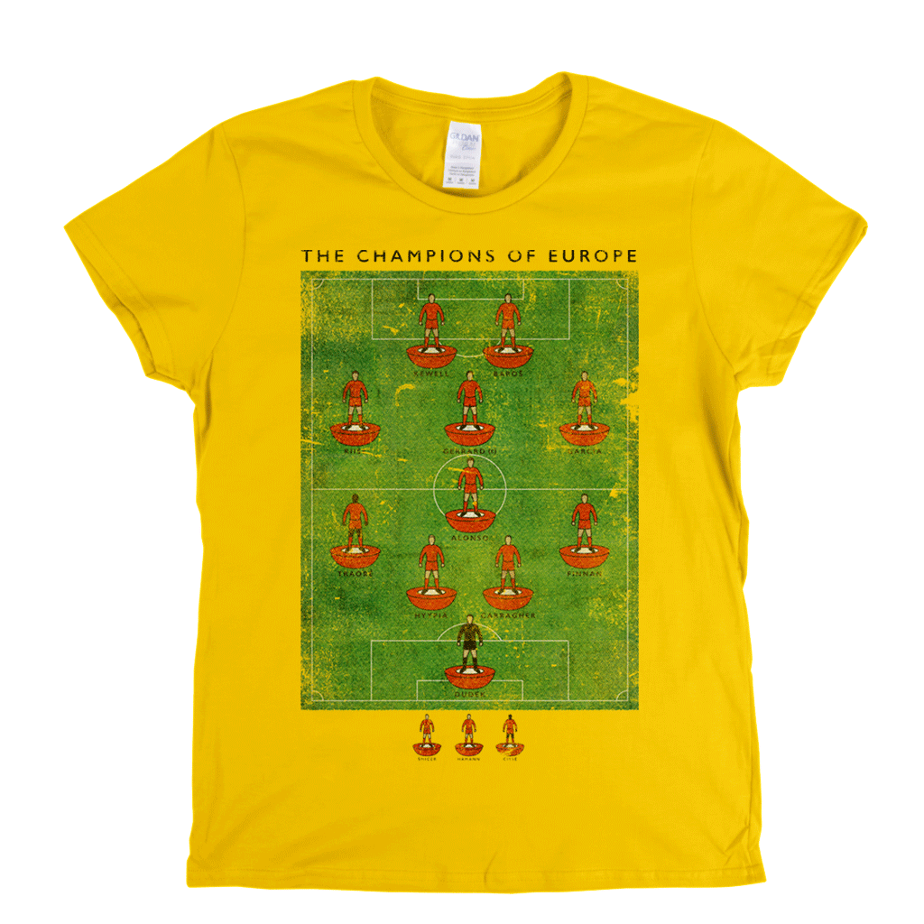 The Champions Of Europe Womens T-Shirt
