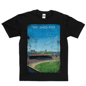 The Shed End Stamford Bridge Football Ground Poster Regular T-Shirt