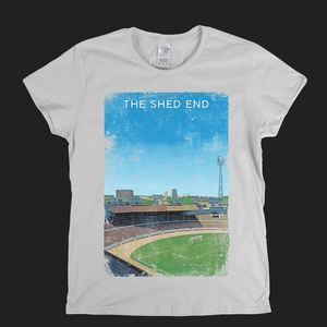The Shed End Stamford Bridge Football Ground Poster Womens T-Shirt