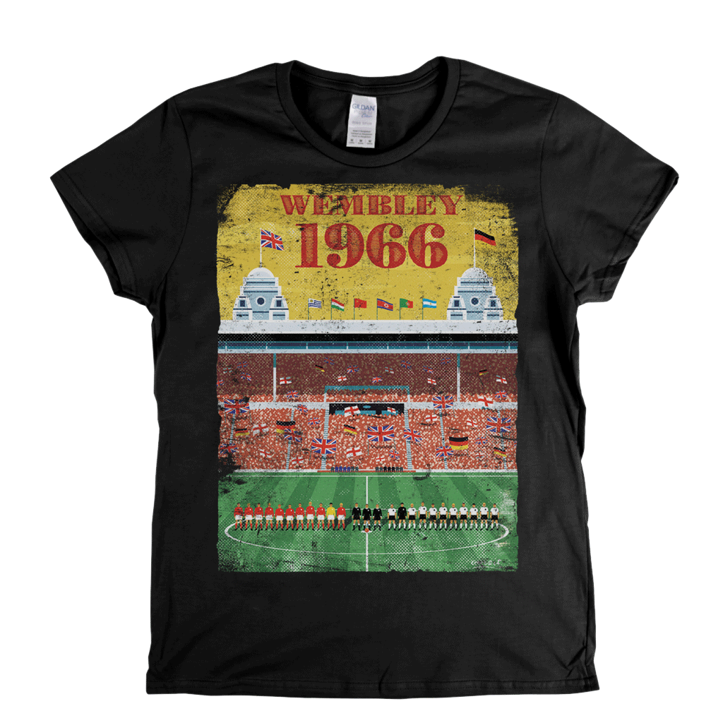 Wembley 1966 Poster Womens T-Shirt