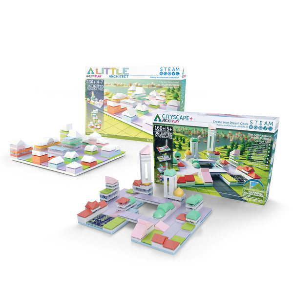 steam-smart-toy-bundle-kids-blocks-cityscape-little-architect-arckit-candy-colours