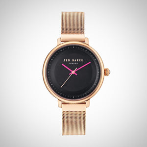 Ted Baker 10031532 Black Dial and Rose Gold-Toned Ladies Watch