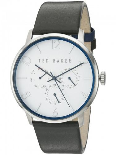 Ted Baker TE 10029567 Herren Multifunktion weisses Zifferblatt Lederband Quarzwerk