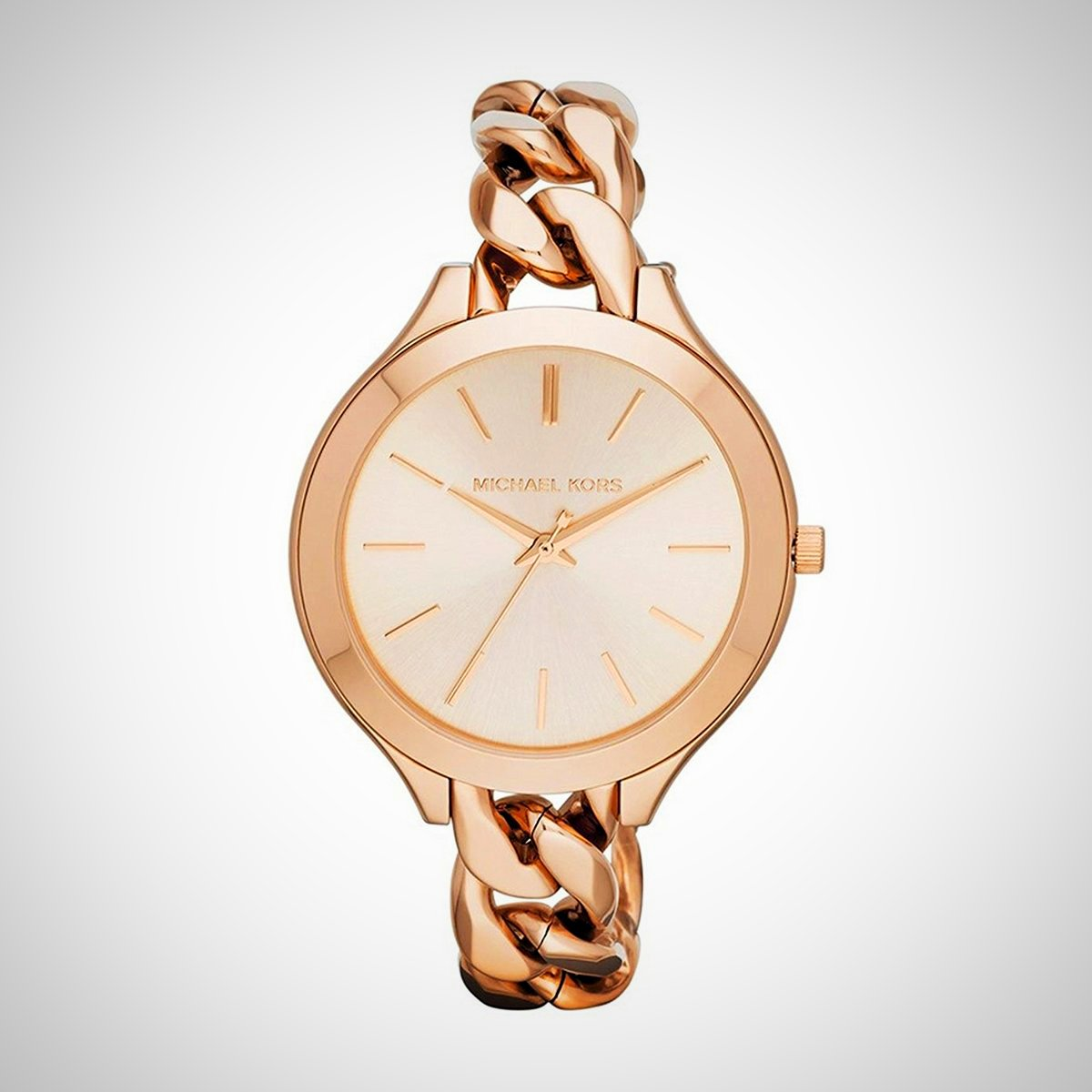 Michael Kors MK3223 Slim Landebahn Twist Rose Gold Watch