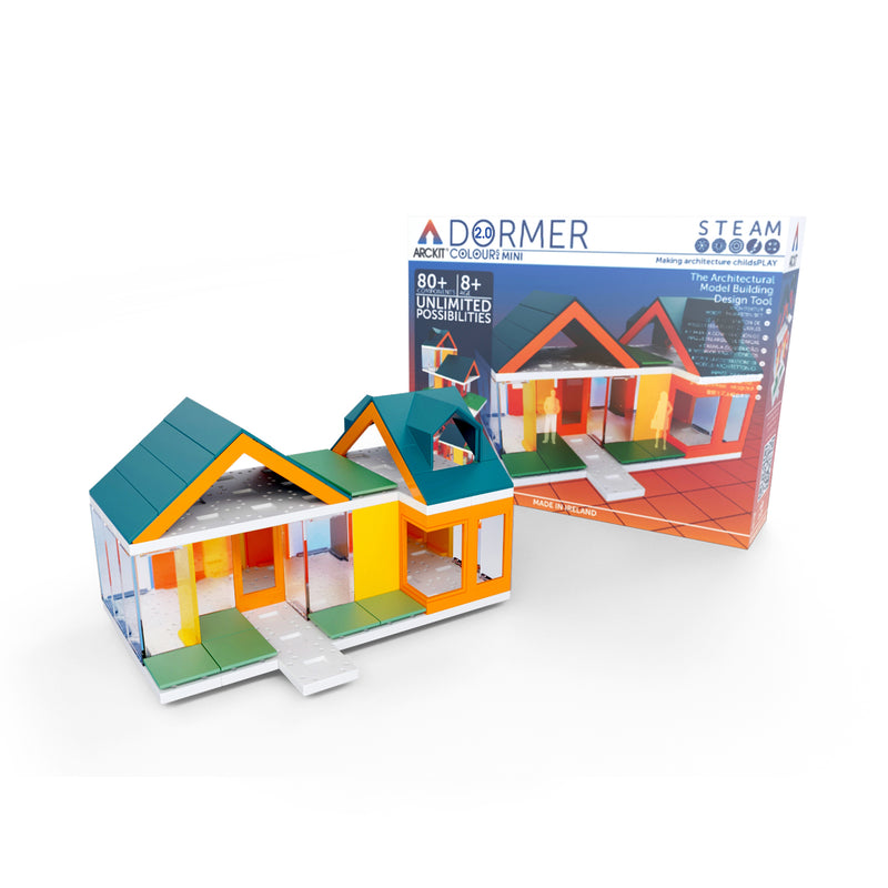 Mini Dormer Colors 2.0, Kids Architect Scale House Model Building kit