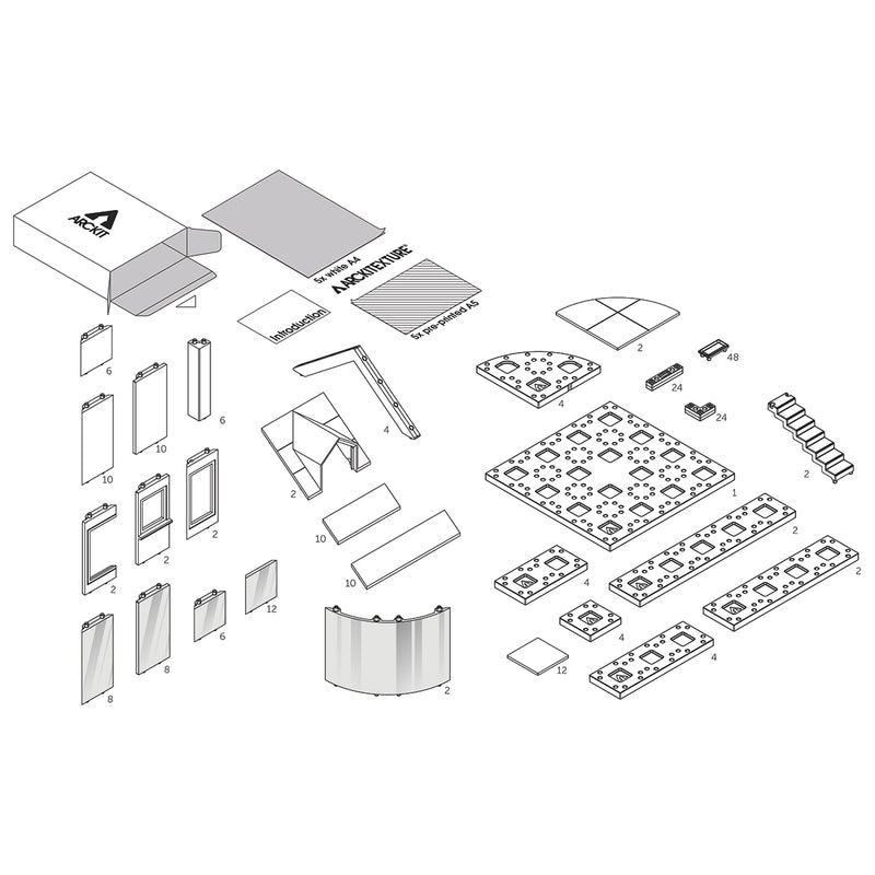 Bundle kit with 6 Arckit 90 scale model kits