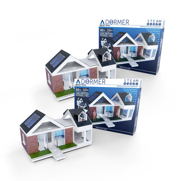 Bundle kit with 2 Mini Dormer scale model kits