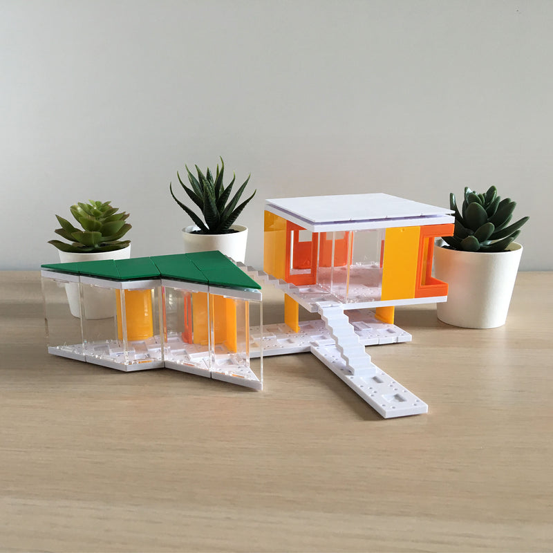 Mini Modern Colors 2.0, Kids Architect Scale Model House Building Kit